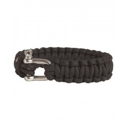 Pulsera Mil-Tec Paracord 15mm Black