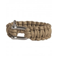 Pulsera Mil-Tec Paracord 15mm Coyote