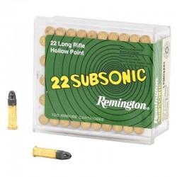 Munición Remington .22 LR Subsonic 100 und