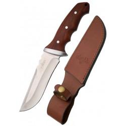 Cuchillo Thrird Caza Funda Piel