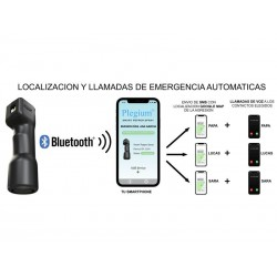 Spray Defensa Plegium Luz Alarma Bluetooth