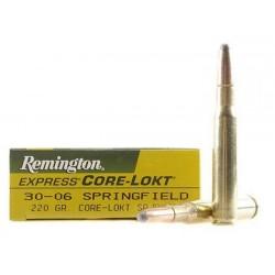 Munición Remington .30-06 Spr 220 Core Lokt