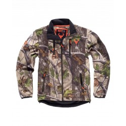Chaqueta Hunterteam Workshell Estampado Cuello Alt