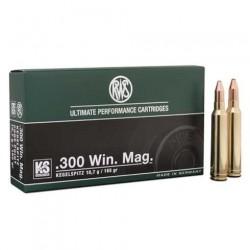 Munición RWS .300 Win Mag 165 gr KS